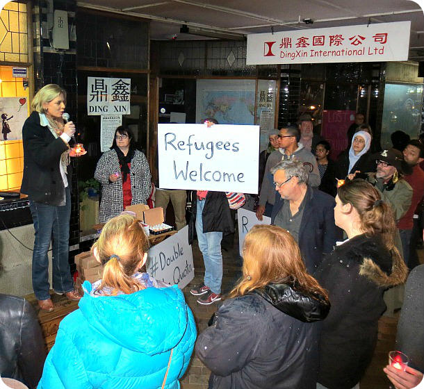 Vigil for Refugees 1