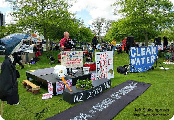 TPPA protest: Jeff Sluka speaks