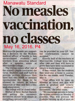 No measles vaccination, no classes
